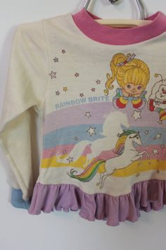 vintage rainbow brite girl's shirt