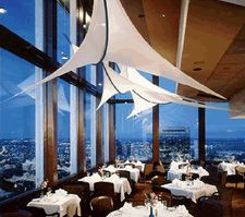 One of the coolest restaurants that I have ever eaten! The view of Boston at night is breathtaking! Top of the Hub in Boston, MA