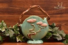 Roseville Pottery 1949 Jade Green Ming Tree Basket #508-8 - The Kings Fortune