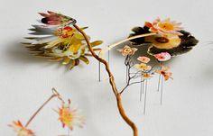 flower constructions by Anne ten Donkelaar, featured on DesignSponge...love this, so delicate