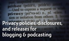 How to easily make a privacy policy and what it should contain, how to get releases for your cohosts and guests, necessary disclaimers and disclosures, and how to avoid defamation. Legal Q with Daniel J. Lewis and Gordon Firemark on The Audacity to Podcast.
