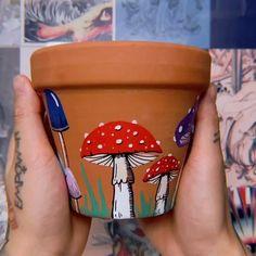 Flower Pot Art, Clay Flower Pots, Flower Pot Crafts, Clay Pot Crafts, Painting Clay Pots, Pottery Painting, Painted Plant Pots, Painted Flower Pots, Flower Pot People
