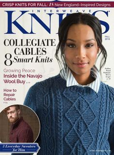 Adventure across the country with this fall issue of Interweave Knits, get 18 new and crisp knits for fall! Vogue Knitting, Knitting Books, Crochet Books, Free Knitting, Knit Crochet, Sock Knitting, Knitting Magazine, Crochet Magazine, Knitting