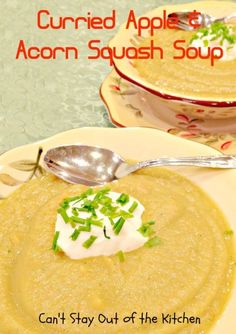 Curried Apple and Acorn Squash Soup