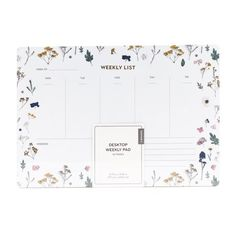 U Brands Weekly Planning Notepad, Floral, Multi-color Gilded Edge, Stylish Office, Work Tools, Gold Gilding, Floral Design, Notes, Layout, How To Plan, Color