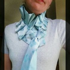 Arrive in style! Upcycled ties from Desert Pearl Designs look great wherever you wear them. Many styles and colors available. Tie Crafts, How To Make Scarf, Tie Styles, Shirt Refashion, Men Style Tips, T Shirt And Jeans, Teal Colors, Silk Ties, Nice Dresses