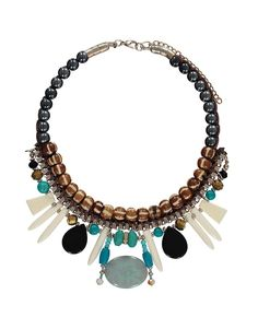 Tribal Bead Collar Necklace