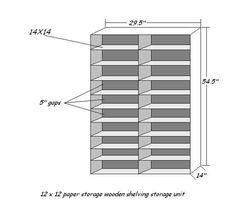 12 x 12 Paper Storage Idea
