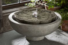 Garden Terrace Cast Stone Flores Fountain