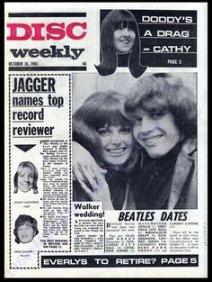 Walker Brothers, John Walker, Uk Music, Music Magazines, Newcastle, Birmingham, The Beatles, Nostalgia, October