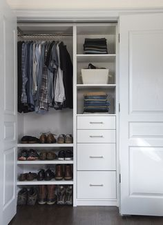 6 Glowing Clever Hacks: Bedroom Remodel Grey Mirror old bedroom remodel.Kids Bedroom Remodel Drawers small bedroom decorating on a budget.How Much To Remodel A Small Bedroom. Closet Renovation, Closet Remodel, Small Closets, Small Bedrooms, Tiny Closet, Open Closets, Dream Closets, Closet Space, Closet Ideas For Small Spaces