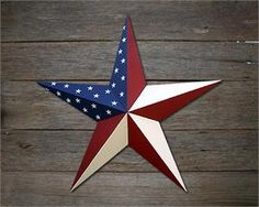 Americana Patriotic Metal Stars Painted, Galvanized, Heavy Duty
