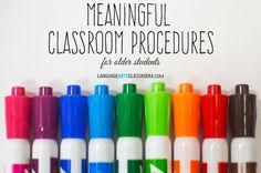 Classroom procedures are a major part of strong classroom management. Here are some procedures for high school students.