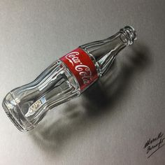 My #drawing of an empty glass #coke #bottle. Drawing vide