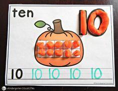 Free Pumpkin Number Mats - The Kindergarten Connection