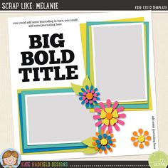 Come play along with the October challenge! Download a FREE digital scrapbooking template and scrap with it for a chance to win $15 to spend in the store!
