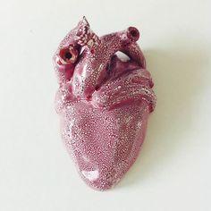 Corazón de cerámica (pieza de pared)
