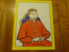 Printable Cardinal coloring page - Pray for our cardinals as they choose our next Pope. This is a great time to teach your children about the hierarchy in the Catholic Church!