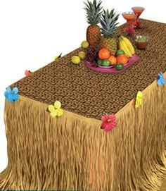 Amscan Tropical Hawaiian Summer Luau TransformaTable Decorating Kit 2 Piece Brown 391 x 85 -- Click image to review more details.