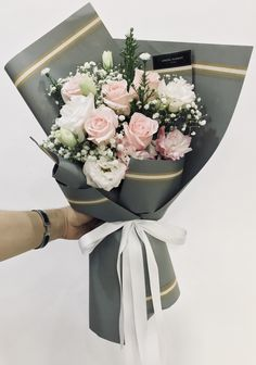 Design your own custom tissue packaging paper with logos - noissue Flower Bouquet Packaging Boquette Flowers, How To Wrap Flowers, Beautiful Bouquet Of Flowers, Beautiful Flower Arrangements, Dried Flowers, Floral Arrangements, Beautiful Flowers, Wedding Flowers, Colorful Flowers