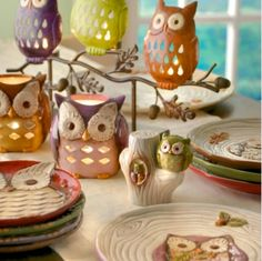 Owl dish ware