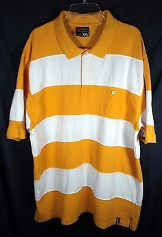 South Pole Short Sleeve Polo Rugby Shirt Yellow and White Stripes Size 5XL #promo http://bayfeeds.com/ebayitem.php?itemid=331629025943