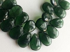 Russian Serpentine Beads Serpentine Faceted Pear by gemsforjewels