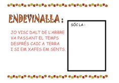 Els Petits Infants: Més recursos per la tardor ! Valencia, Memories, Infants, Advent, Autumn, School, Carnival, Seasons Of The Year, Sayings