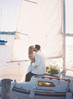 Nautical Wedding Shoot on White Rock Lake - Anna Smith Photography - Dallas Wedding Photographer - Boat - bouquet - sailboat - white tuxedo