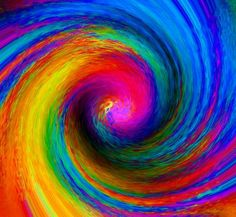 Images of rainbow spiral 2358 - Colors Of The World, Taste The Rainbow, Over The Rainbow, Happy Colors, Bold Colors, True Colors, Fractal Art, Rainbow Colors, Rainbow Stuff