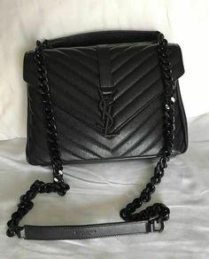 f0f2376caa48 YSL YVES Saint Laurent 100% Authentic College Monogram Medium Bag #fashion  #clothing #