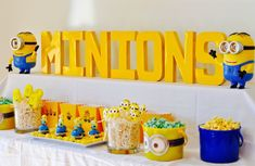 Minions Party + DIY Minions Paper Lanterns - Make Life Lovely Diy Minion Birthday Party, Happy Birthday Minions, Diy Party, Birthday Parties, Minion Pumpkin, Minion Banana, Paper Lantern Making, Paper Lanterns, Minions Despicable Me
