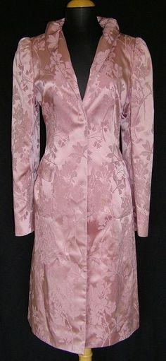 DOLCE & GABBANA Pink Floral Brocade Evening Holiday Jacket Coat $2250 NEW NWT 42 #DolceGabbana #BasicCoat