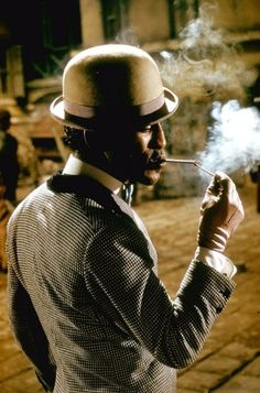 Sammy Davis Jr. in character as Sportin' Life on the set of Porgy and Bess, 1959.