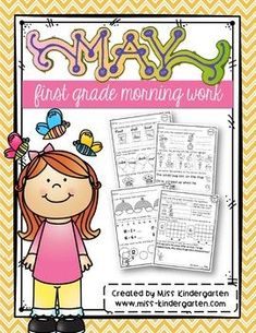 Need first-grade morning work for May! These activities can easily be filed away in your morning work binder or files or collated into a fun packet full of reading, writing, and math skills! #morningwork #ideas