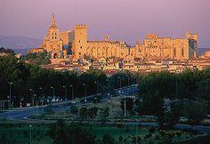 Avignon La cathédrale romane et le palais-forteresse des papes (XIVe siècle), sur le rocher des Doms à Avignon, dans le Vaucluse (Région Provence-Alpes-Côte d Azur).  Blaise Juillet dit Avignon - L'Ecuyer and Daoust.