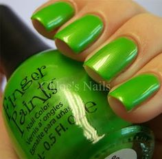 neon green nail polish...although i dont think i would have the guts to wear it in public.