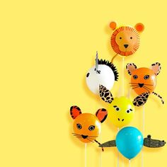 Animal Party Balloon Decorations INSTANT DOWNLOAD PRINTABLE | Etsy Animal Templates, Balloon Decorations Party, Safari Party, Balloon Animals, Diy Party, Party Ideas, Party Favor Bags, Animal Decor, Stuffed Animal Patterns