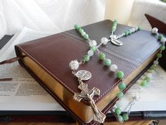 Green Amazonite Rosary by DULCIUSdesign on Etsy