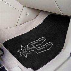 San Antonio Spurs carpet car mats! #gospursgo haha I need to get these for Raul :)