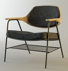 Oliver Hrubiak is a young Nottingham-based product and furniture designer who is building quite an impressive portfolio. His pieces Finn and Frank combine wood and metal beautifully but in different ways.