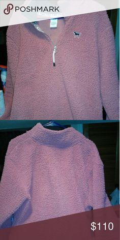 Victoria's Secret PINK Sherpa jacket Brand new Victoria's Secret PINK Sherpa three quarter zip jacket, sold out online, very warm and cozy ?? Victoria's Secret PINK  Jackets & Coats