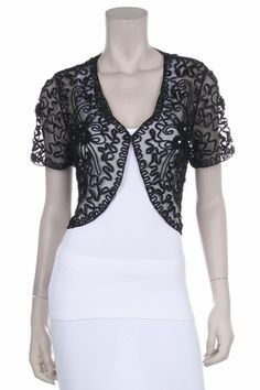 Cheap short and long sleeve lace bolero jackets for women. We carry many styles of lace bolero jackets for bridesmaids, mother of the brides, cocktail parties. Sewing Patterns Free, Free Sewing, Clothing Patterns, Dress Patterns, Free Pattern, Bolero Pattern, Jacket Pattern, Sewing Clothes, Diy Clothes