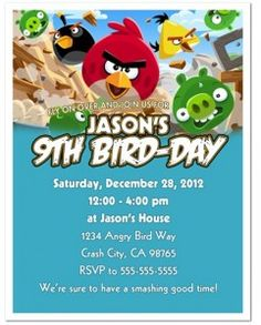 Lots of ideas and links for an Angry Birds party