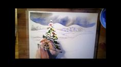 A Christmas Tree - watercolor painting process
