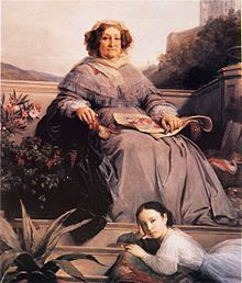 Portrait of Madame Clicquot and her great-granddaughter Anne de Rochechouart-Mortemart