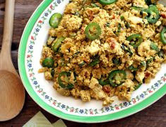 Ethiopian Tofu Scramble is great for breakfast or as a main at dinner. @rickiheller