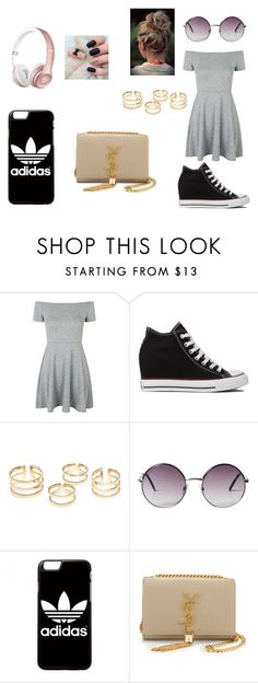 """Style Sorveteria"" by lauanyduarte on Polyvore featuring Topshop, Converse, Monki, Veja, adidas and Yves Saint Laurent"