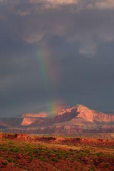 Capitol Reef Rainbow by Prajit Ravindran - Utah