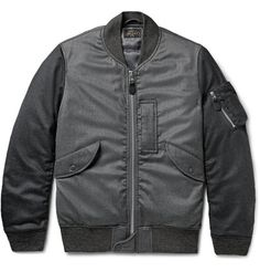 BEAMS PLUS Two-Tone Wool-Blend Flannel Bomber Jacket $455  //cache.mrporter.com/images/products/648037/648037_mrp_in_l.jpg large